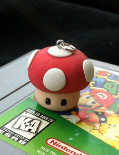 *Item above can be made as charm or as clay figure. This listing is for a little Mario mushroom charm but if you would like it as a clay figure