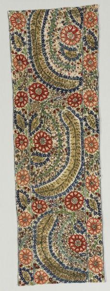 Portion of a Bedspread, 1700s Greece, Epirus, Yaninna, 18th century  embroidery: silk on linen tabby ground