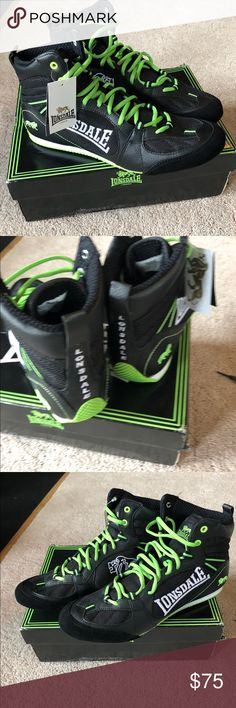 1de1fe6eec NWT Lonsdale boxing shoe New with box- lime green and black Lonsdale Shoes  Athletic Shoes