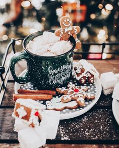 merry christmas 106 days till Christmas Q:Gingerbread or marshmallows ~ Thank you so much for ~ PHOTO CREDITS Days Till Christmas, Christmas Mood, Merry Little Christmas, Noel Christmas, Christmas Cookies, Christmas Coffee, Christmas Hot Chocolate, Christmas Gingerbread, Christmas Ideas