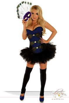 "Daisy Corsets 3 PC Sexy ""Pretty Peacock"" Costume"