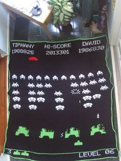 Space Invaders Afghan - CROCHET - Knitting, sewing, crochet, tutorials, children crafts, papercraft, jewlery, needlework, swaps, cooking and so much more on Craftster.org