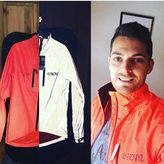 Another #Proviz CRS Jacket! 😜 📷 @adampalethorpe showing off the special orange edition, made possible by everyone on kickstarter! 👍🏼 🌟Stay Safe🌟out there Adam! ✌🏼️
