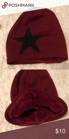 5986e9a3 Beanie Maroon and black beanie. Bought at a boutique in NYC. Never worn!