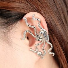 Gothic Octopus Clip Adjustable Earrings TK144