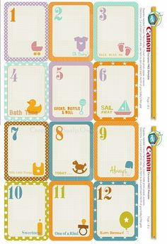 """FREE exclusive printable includes a set of ALL ABOUT BABIES Journal cards that you can create a """"year in the life"""" - Girl and Boy version"""