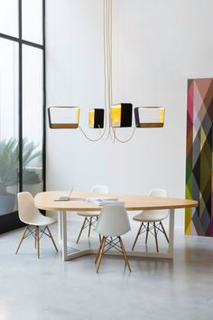 Daily Design News Gives The Ultimate Guide to Maison et Objet 2018 – Daily Design News Suspension Design, Wooden Dining Tables, Trestle Table, Luminaire Design, Modern Chandelier, Dining Room Design, Dining Rooms, Interiores Design, Contemporary Furniture