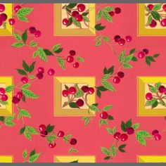 vintage kitchen wallpaper with cherries - Yahoo Image Search Results 1950s Kitchen Wallpaper, Retro Wallpaper, Modern Wallpaper, Custom Wallpaper, Wall Wallpaper, Designer Wallpaper, Pattern Wallpaper, Wallpaper Ideas, Vintage Kitchen