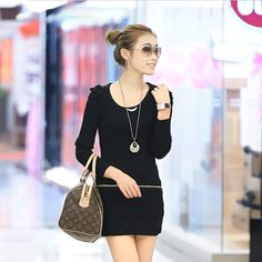 2016 fashion new winter nail drill collar sweater long sleeve dress promotion O-Neck cardigan women hot sale special offer- amoyapparel.com