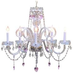 Cast a warm glow in your entryway or den with this lovely chandelier, showcasing fine crystal accents and scalloped bobeches.     Pro... Kids Chandelier, Chandelier Shades, Chandelier Lighting, Crystal Chandeliers, Kids Lighting, Gallery Lighting, Classic Lighting, Zara, Ceiling Lights