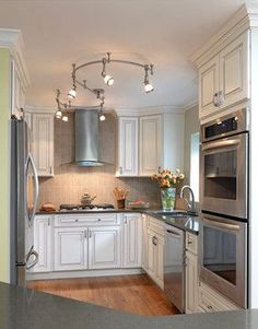 Remodeling Kitchen Ideas custom-shaped monorail track lighting for real life family kitchen