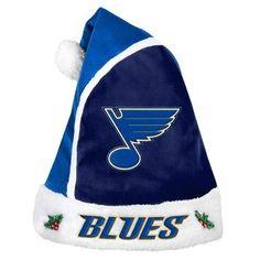 St Louis Blues 2015 NHL Hockey Team Logo Holiday Plush Basic Santa Hat