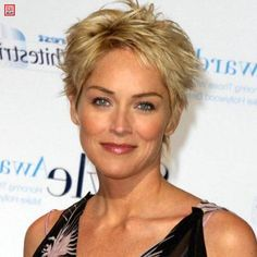 Sharon stone coupes cheveux mi longs and pierres on pinterest for Coupe de cheveux sharon stone 2012