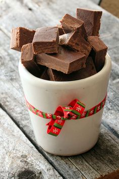 Simple Homemade Fudge is a great homemade gift for the holidays or just a great little sweet treat on a cold day.