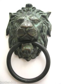just bought this for my new front door! Antique Brass Lions Head Door Knocker Weighs 2 lb 14oz