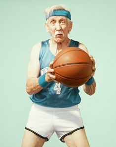 """The Golden, the Red and The Blue - By Dean Bradshaw and JeongMee Yoon . Player 1 """"The Golden Years"""" by Dean Bradshaw . Magazine Sportif, Dean, Sport Basketball, Basketball Court, Basketball Socks, Online Fitness, Basketball Photography, Old Folks, The Golden Years"""