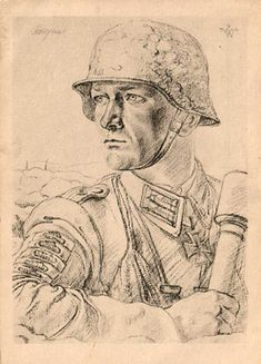 Remembrance Day Art, Soldier Drawing, Ww1 Soldiers, Ww2 Posters, Military Drawings, Propaganda Art, Germany Ww2, Dark Art Drawings, Figure Sketching