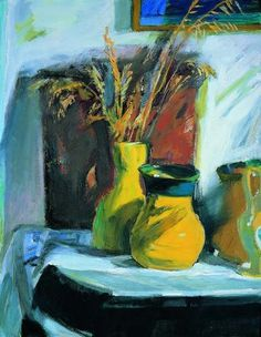 Still life named : The afternoon sun - Panayiotis Tetsis Painter Artist, Artist Painting, Artist Art, Painting & Drawing, Modern Art, Contemporary Art, Greece Painting, Mediterranean Art, Post Impressionism