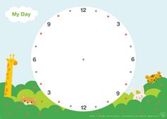 Printable daily planner for kids in blank 24 hour circle. Draw lines to divide day into hours and have kids write down their… Daily Schedule Printable, Daily Schedule Kids, Monster Theme Classroom, Classroom Themes, Lesson Plan Binder, Early Years Maths, Kids Planner, Organized Mom, Ideas
