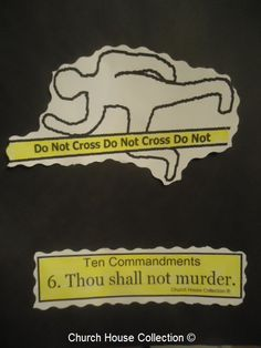 "Church House Collection Blog: Ten Commandments ""Thou Shalt Not Murder"" Craft Cut Out Sheet For Sunday School."