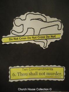 """Church House Collection Blog: Ten Commandments """"Thou Shalt Not Murder"""" Craft Cut Out Sheet For Sunday School."""