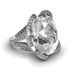 Eye-Catching Celebrity Inspired GIA Round Diamond 7.50 CTW Engagement Ring 18K