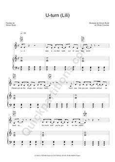 U turn lili partition piano gratuite