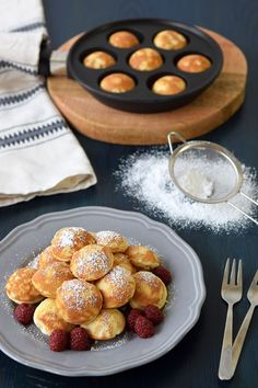 Dutch Pancakes, Mini Pancakes, Tasty Pancakes, Waffles, Mini Tortillas, Crepes, Cute Food, Yummy Food, Brunch
