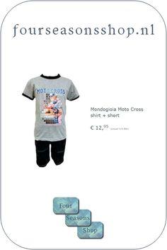 Motocross shirt en short #fourseasonsshop.nl #jongensshirt #jongensshort Motocross Shirts, Four Seasons, Logos, Mens Tops, T Shirt, Supreme T Shirt, Tee Shirt, Logo, Seasons Of The Year