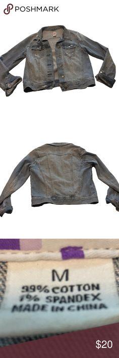 Distressed Denim Jacket Size M Distressed Denim Jacket Size M Jackets & Coats Jean Jackets