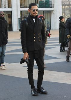 Street Style: Perfect Casual Menswear From NYFW F/W 2014 - Photo by Andrew Villagomez, More on VeeTravels.com