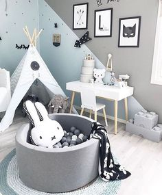 868 likes, 4 comments - 🌸 Kids and Baby Inspiration 🌸 (@ kids_interior .- 868 Likes, 4 Kommentare – 🌸 Kinder und Baby Inspiration 🌸 (@ kids_interior… 868 likes, 4 comments – 🌸 kids and baby … - Baby Boy Rooms, Baby Bedroom, Baby Room Decor, Nursery Room, Kids Bedroom, Nursery Furniture, Kids Interior, Baby Room Design, Ball Pits
