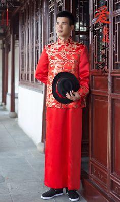 chinese stijl trouwjurk tang pak mannelijke kostuum Chinese tuniek pak brokaat bruidegom avondjurk c gouden draak in  product optielijstnote: de volgende informatie is alleen ter referentie. neem dan contact op met de verkoper om d van op AliExpress.com | Alibaba Groep
