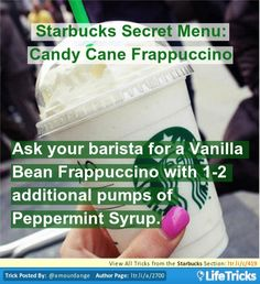 Starbucks Secret Menu: Candy Cane Frappuccino
