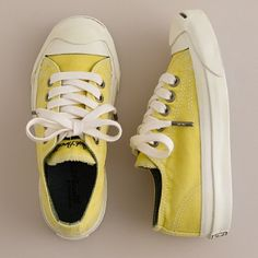 Kids' Jack Purcell Converse: citron classic sneakers