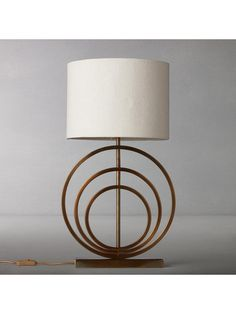 Buy John Lewis & Partners Ainsley Sculptured Rings Lamp Base, Antique Brass, from our Desk & Table Lamps range at John Lewis & Partners. John Lewis, Lucky Art, Unique Ring Designs, Desk Lamp, Table Lamp, Ring Lamp, Minimalist Desk, Brass Lamp, Lamp Bases