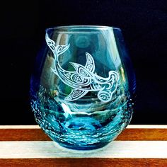 Exciting new product available now: Crackle Wine Glas... We look forward to your order! http://integritybottles.com/products/crackle-wine-glass-with-tribal-hammerhead-shark-hand-etched?utm_campaign=social_autopilot&utm_source=pin&utm_medium=pin  #integritybottles