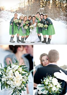 Like the bouquet and the green on white