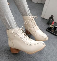 martin boots-Pure Color Low Heel Heel Thick Wom... owEKj