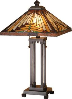 mission style lamp,mission lamp,mission style lighting,mission lighting,mission table lamp Nuevo Mission Table Lamp