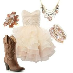 This would be cool for a school dance, just out in a diffent pair of boots and it would be perfect!!