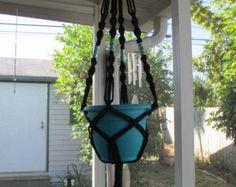 Macrame plant hanger Ocean Blue by CutchysCraftCorner on Etsy