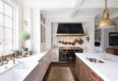 pretty kitchen; so much light.