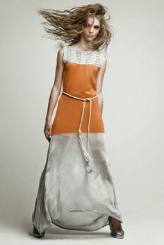 Ekaterina Kukhareva: Spring Summer 2012. Crochet and Fabric