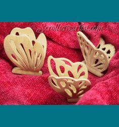 Scroll Saw Patterns :: Miscellaneous :: Compound cut - 3D :: 3D/Compound-cut Butterflies -