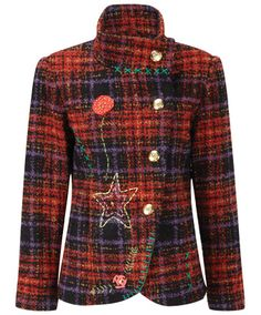 Joe Browns Fab and Funky Check Jacket  - warm and luxurious with plenty of fab colours and gorgeous check detail.