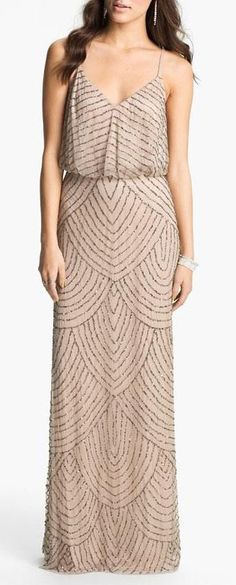 Gatsby Inspired Long Dress. Pretty for wedding shower or rehearsal dinner. Different  than your usual white!