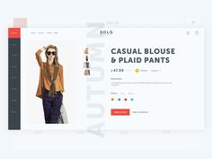 Product page for Ecommerce