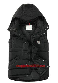 moncler mens black vest
