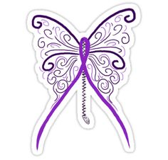 """Chiari Butterfly"""" Stickers by NonfatalNerdism 